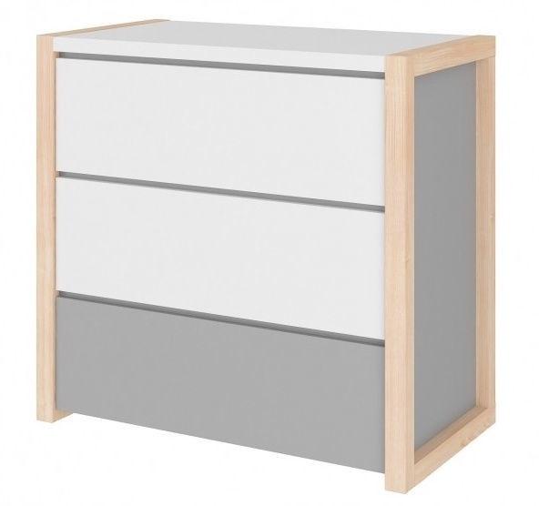 Kumode Bellamy Pinette White/Gray, 90x50x87 cm