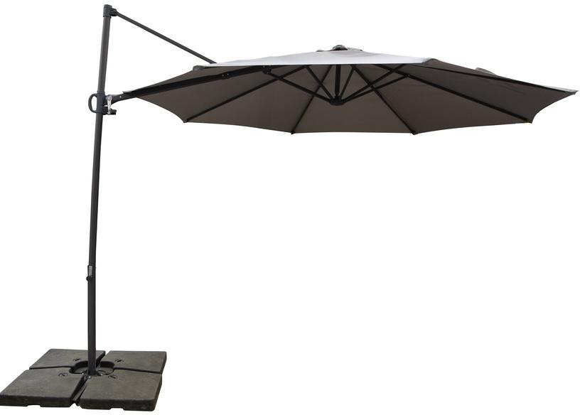 Sodo skėtis Domoletti Square Grey, 3 x 3 m