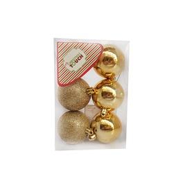 Eglutės žaisliukas N3/6006AB-G Gold, 60 mm, 6 vnt.
