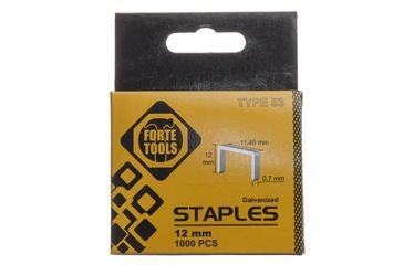 Kabės Forte Tools, 53, 12 mm, 1000 vnt