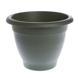 Plastmasas puķu pods Plasticotto Compana, 28cm, zaļš
