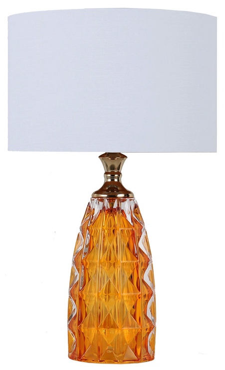 Home4you Luxo Table Lamp 58cm Yellow Glass