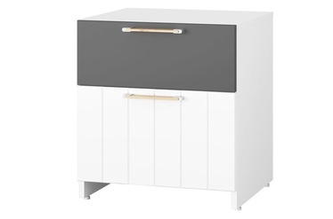 Szynaka Meble Picolo 08 Night Table White/Grey