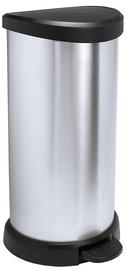 Curver Deco Bin 40l Silver
