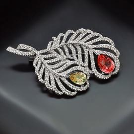 Diamond Sky Brooch Crystal Bouquet III With Swarovski Crystals