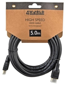 4World Cable HDMI / HDMI 5m Black