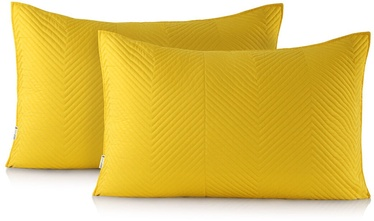 DecoKing Messli Pillowcase Honey Yellow 50x70 2pcs