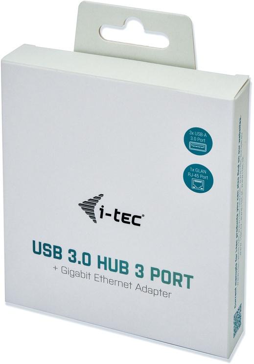 USB-разветвитель (USB-hub) I-Tec USB 3.0 Metal 3 port HUB With Gigabit Ethernet