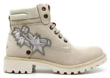 Wrangler Creek Patch Fur Leather Winter Boots Winter Cream Light Brown 41