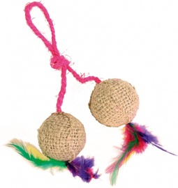 Trixie 4501 2 Balls on a Rope Jute
