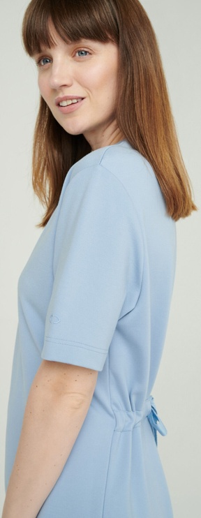 Audimas Stretch Short Sleeves Dress Blue M