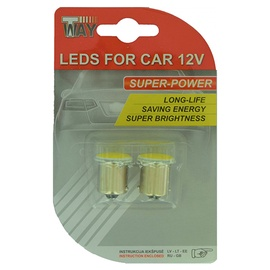 Автомобильная лампочка AutoDuals SMD-LED COB Light Bulb White 2pcs