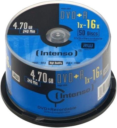 Intenso DVD+R 16x 4.7GB 50pcs. Cake Box 4111655