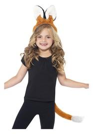 Karnavalinis lapės kostiumas ausys ir uodega