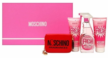 Moschino Pink Fresh Couture 100ml EDT + 100ml Shower Gel + 100ml Body Lotion + Cosmetic Bag