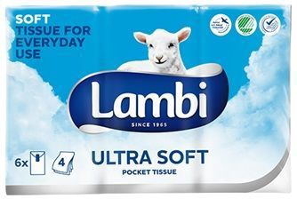 Lambi Ultra Soft Pocket Tissue 6pcs
