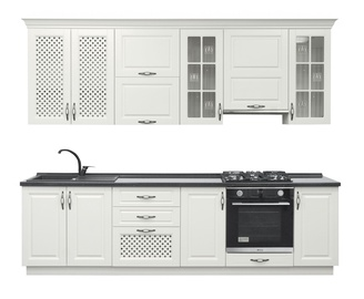 MN Kitchen Unit Adelina 2.8m White