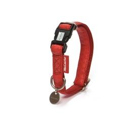 Kaklasiksna MacLeather ādas 20-40x1,5cm, sarkana