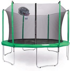 Tesoro Tarampoline 252cm Ladder/Basketball Green