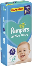 Pampers Active Baby Maxi Pack S4 58