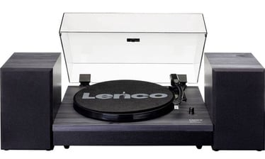 Lenco LS-300 Turntable With Separate Speakers Black