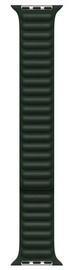 Ремешки Apple 45mm Sequoia Green Leather Link - M/L, темно-зеленый