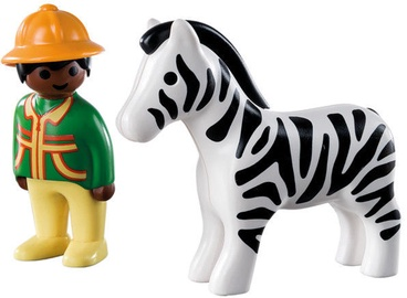 Playmobil 1-2-3 Ranger With Zebra 9257