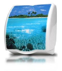 Karo Plast Toilet Paper Holder Atol 17104 White/Blue