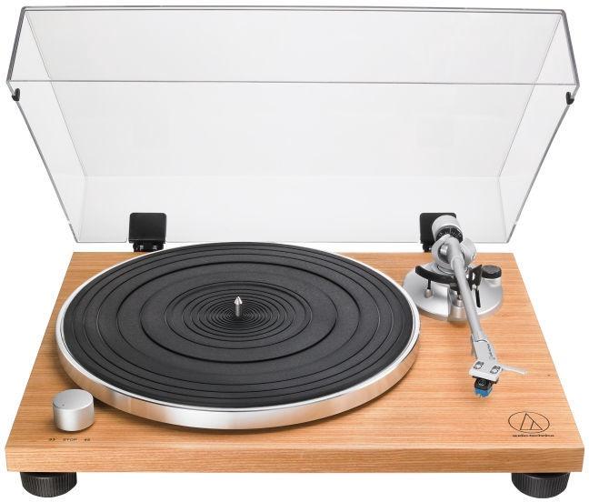 Plaadimängija Audio-Technica AT-LPW30TK Fully Manual Belt-Drive Turntable, läbipaistev/beež, 3.9 kg