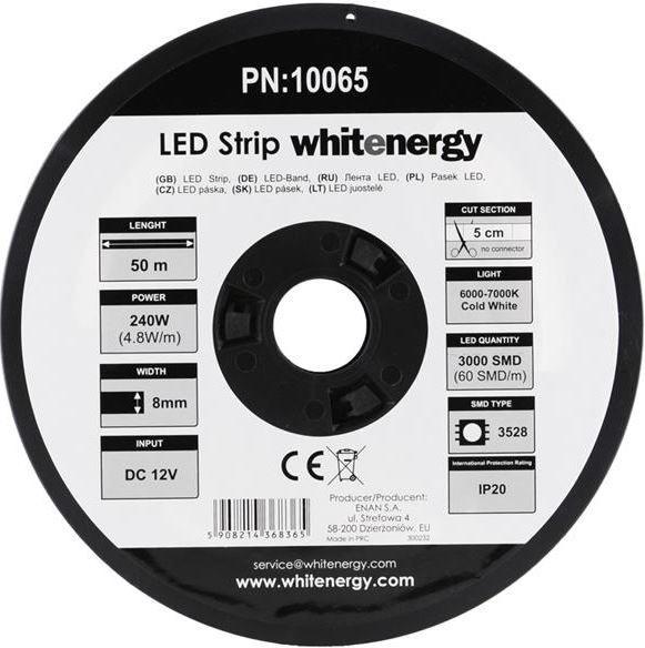Whitenergy Flexible LED Strip 3528 4.8W 12V IP2W White
