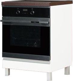 Нижний кухонный шкаф Bodzio Sandi 60 Oven White, 600x590x860 мм