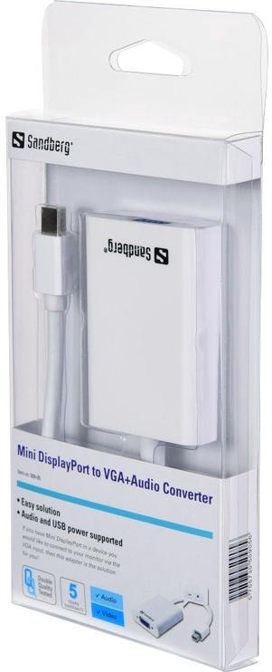Sandberg Mini DisplayPort to VGA With Audio 509-05
