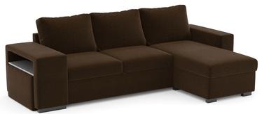 Stūra dīvāns Home4you Elton 63947, brūna, 152 x 256.5 x 88 cm
