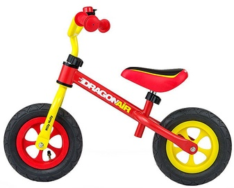 Vaikiškas dviratis Milly Mally Dragon Air Balance Bike Yellow Red 2800