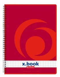 Herlitz Spiral Pad A4 x.book Red 3pcs