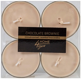 Home4you Teacandles Maxi Chic Chocolate Brownie 4pcs