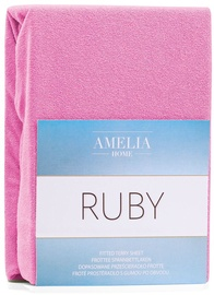 AmeliaHome Ruby Frote Bedsheet 160-180x200 Pink 21