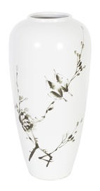 Home4you Yoko Ceramic Vase Birds H35cm White