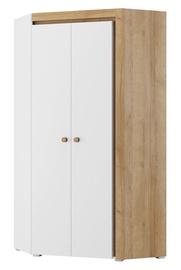 Szynaka Meble Riva 11 Corner Wardrobe White/Oak