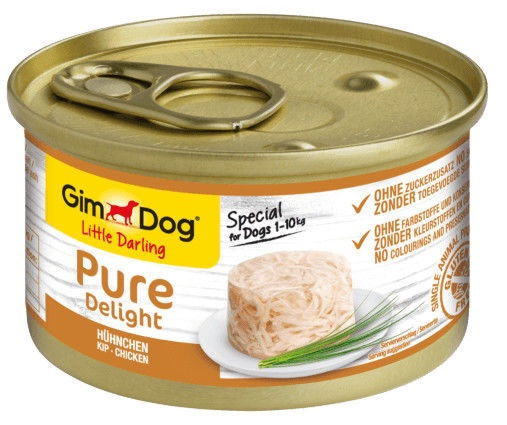 Koerte märgtoit (konserv) Gimborn Gimdog Food Little Darling Pure Delight w/ Chicken In Jelly 85g