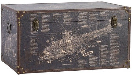 Home4you Wooden Box Ventura 1 70x35xH35cm Helicopter
