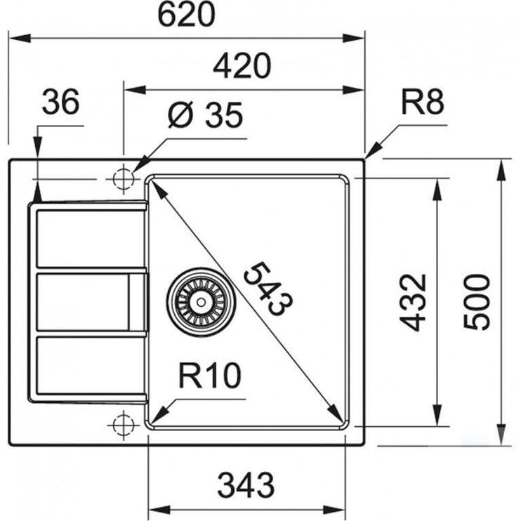 Мойка Franke Tectonite S2D 611-62 Sink Carbon