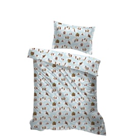Lotte Bed Linen Set 150x210 Lotte Blue