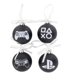 Paladone PlayStation Set of 4 Glass Ornaments