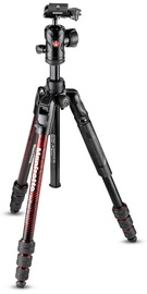 Manfrotto Befree Advanced Aluminum Travel Tripod Red MKBFRTA4RD-BH