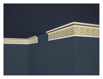 Lubų apdailos juostelių komplektas B21, auksinė, 200 x 5.6 cm
