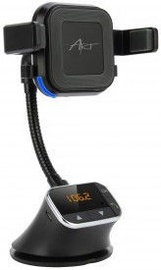 Art Bluetooth FM Transmitter With Qi Wireless Charger Black