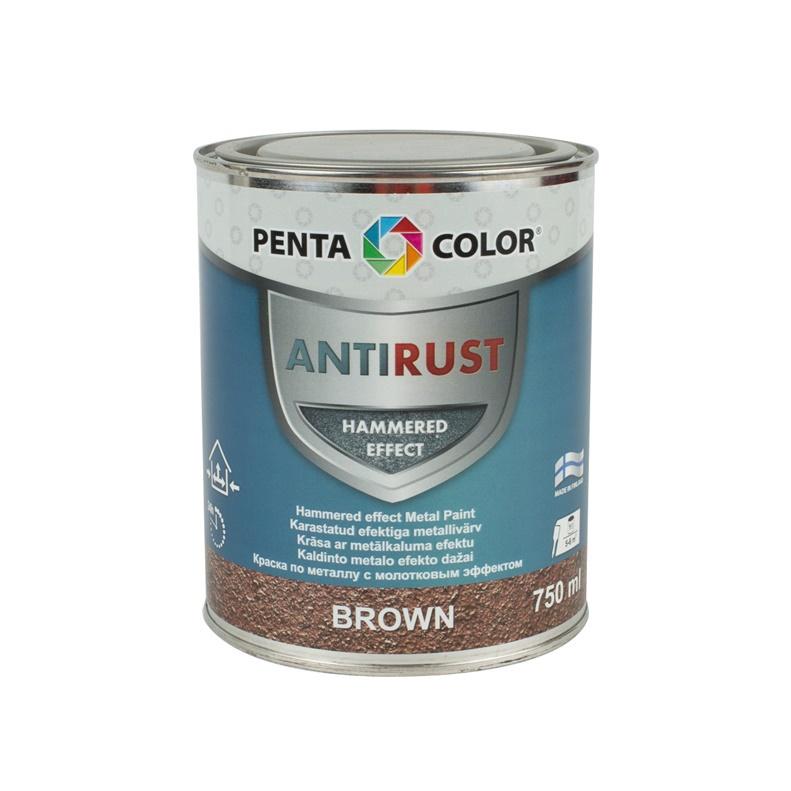 Universalūs kaldinto metalo efekto dažai Pentacolor, rudi, 0.75 l
