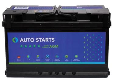 Аккумулятор Auto Starts High Energy AGM, 12 В, 80 Ач, 800 а