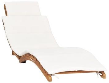 Lamamistool VLX Folding Sun Lounger, valge, 175 cm x 50 cm x 55 cm